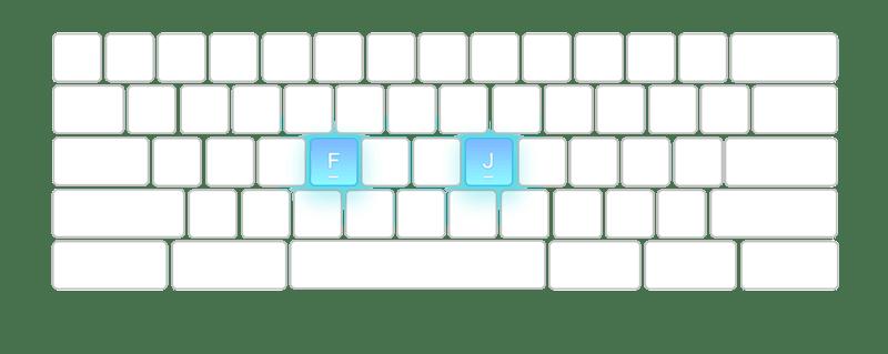 bumps-keyboard-typing